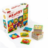Memory Fruits Vegetables 48 Cards 3 Years+