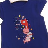 Crew Neck Baby Girl Supreme Planet Printed Tshirt
