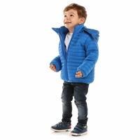 Kış Erkek Bebek Basic Kapüşonlu Mont