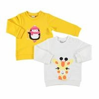 Printed Baby Long Sleeve Sweatshirt 2 Pack