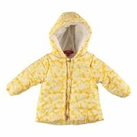 Baby Girl Heart Printed Water Repellent Coat