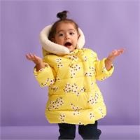 Baby Girl Bow Collar Water Repellent Coat
