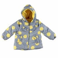 Baby Girl Spotted Hoodie Water Repellent Coat