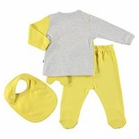 Lion Baby Bodysuit Pants Apron Set 3 pcs