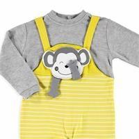 Bebek Sevimli Maymun Sweatshirt Salopet