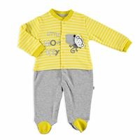 Fun Monkey Baby Footed Romper