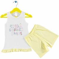 Kız Bebek Girl Tshirt Şort 2li Takım