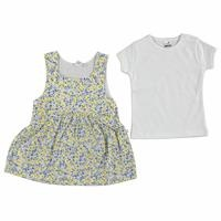 Flower Garden Baby Girl Dress Bodysuit Set
