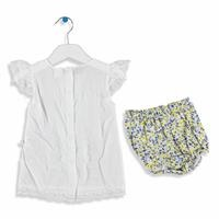 Flower Texture Baby Girl Shirt Shorts