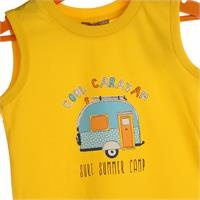 Baby Boy Holiday Bus Printed Athlete