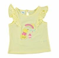 Kız Bebek Winnie The Pooh Omuzları Fırfırlı T-Shirt