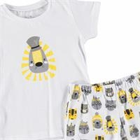 Crazy Cats Printed Short Sleeve Baby Pyjamas