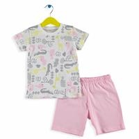 Giraffe Feature Printed Short Sleeve Baby Pyjamas