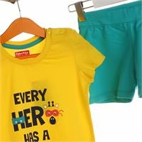 Super Heroes Baby Tshirt Short Set