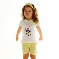 Ballon Panda Baby Girl Short Sleeve Jumpsuit