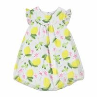 Flower Theme Baby Girl Dress with Snap