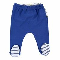 Striped Baby Boy Figures Footed Trousers