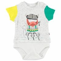 Vikings Baby Boy İnterlock Short Sleeve Bodysuit