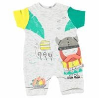 Vikings Baby Boy İnterlock Short Romper