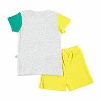 Vikingler Erkek Bebek İnterlok Happy Tshirt Şort 2li Takım