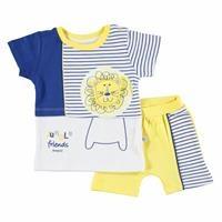 Striped Baby Boy Tshirt Short 2 Pack Set