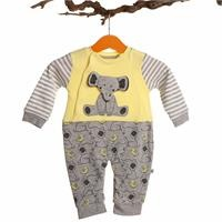 Elephant Printed Baby Boy Footless Romper
