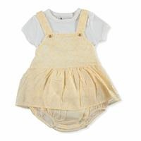 Baby Shawl Patterned Salopet-Tshirt