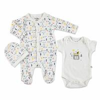 Summer Baby Boy Indian Romper Bodysuit Hat 3 pcs Set