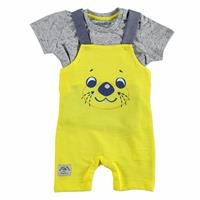 Summer Baby Boy Daddy and I Short Dungarees T-shirt Set