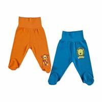 Baby Comfortable Waist Footed Pant 2 pcs