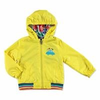 Summer Baby Boy Little Cars Micro Rib Rain Coat