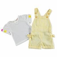 Bebek Fiyonklu Çizgili Salopet-Tshirt