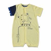 Yaz Erkek Bebek Kepçe İnterlok Kısa Kol Patiksiz Çıtçıtlı Yaka Tek Barbatöz