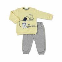 Summer Baby Boy Scoop Long Sleeve Footless Sweatshirt