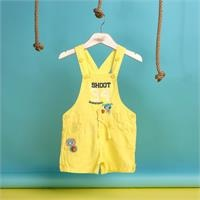 Summer Baby Boy Baseball Embroidered Dungarees
