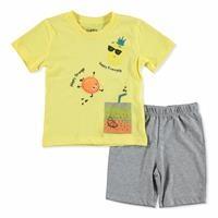 Summer Baby Boy Happy Fruits T-shirt Short 2 pcs Set