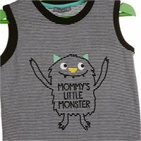 Fun Monster Printed Striped Athlete