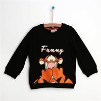 Winnie The Pooh Siyah Sweatshirt