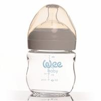 144 Natural Heat Resistant Glass Baby Bottle 125 ml