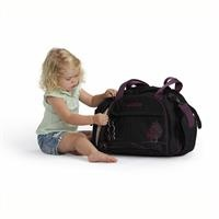 Dahoma Shuttle Bag Black Purple