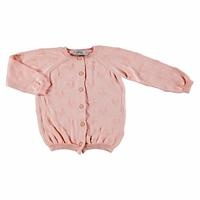Winter Jacquard Heart Buttoned Baby Knit Cardigan