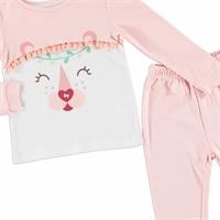 Cute Pompoms Baby Girl Pyjama Set