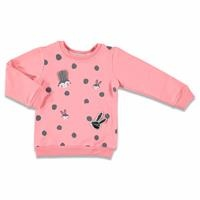 Shiny Eared Rabbit Printed Baby Girl Sweatshirt