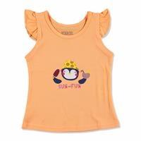 Yaz Kız Bebek Fırfırlı Atlet Tshirt