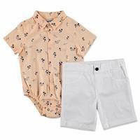 Hawai Cotton Short Sleeve Shirt - Pants 2 pcs Set