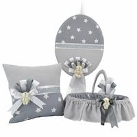 Baby Room Decoration Set Gray Star