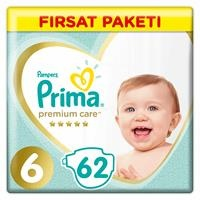 Premium Care Baby Diaper Size 6 Extra Large Advantage Pack 13-18 kg 62 pcs