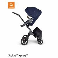 V6 Baby Stroller Brown Leather Handle