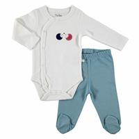 Joy Baby Bodysuits Footed Pants 2 pcs
