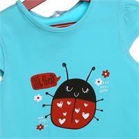 Crew Neck Baby Girl Supreme Ladybug Printed Tshirt